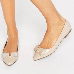 ASOS Miss KG Ness Bow Point Flat Shoes (NWT)
